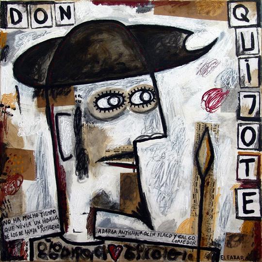 Don Quijote: No ha mucho tiempo que vivía un hidalgo de los de lanza en astillero, adarga antigua, rocín flaco y galgo corredor