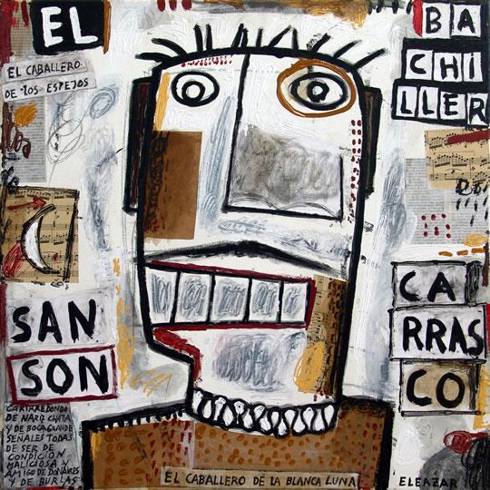 El Bachiller Sansón Carrasco: …carirredondo, de nariz chata y de boca grande señales todas de ser de condición maliciosa y amigo de donaires y de burlas