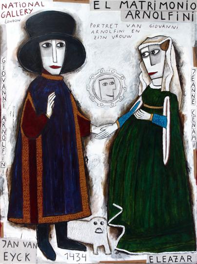 El Matrimonio Arnolfini y un servidor en el espejo