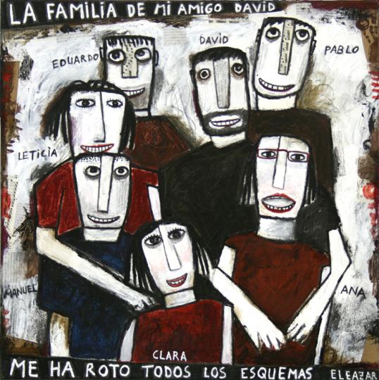 La familia de mi amigo David me ha roto todos los esquemas. 50x50 cm