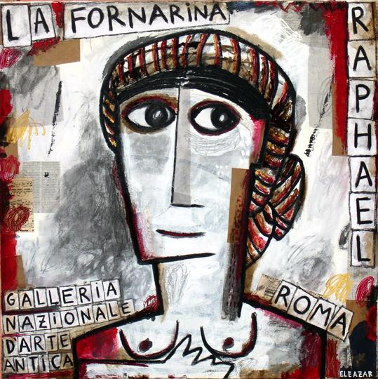 La Fornarina. 80x80 cm
