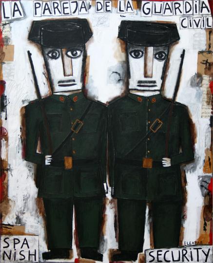 La pareja de la Guardia Civil. Spanish Security