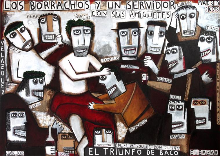 Los borrachos y un servidor con sus amiguetes. El Triunfo de Baco