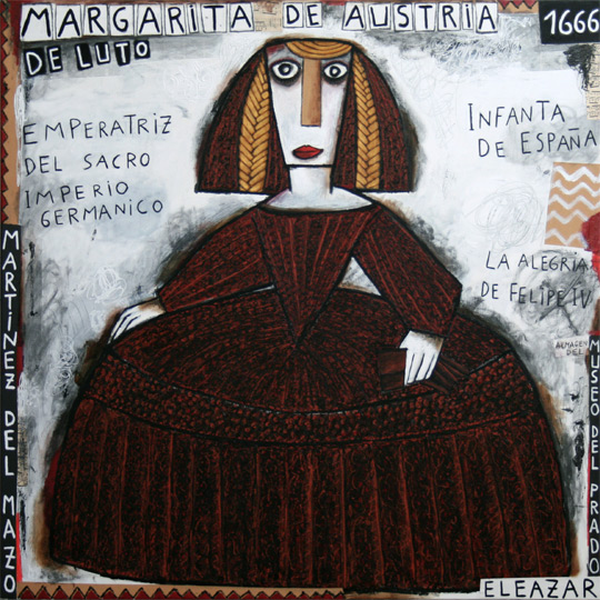 La Infanta Margarita de Austria de luto a la edad de 15 años