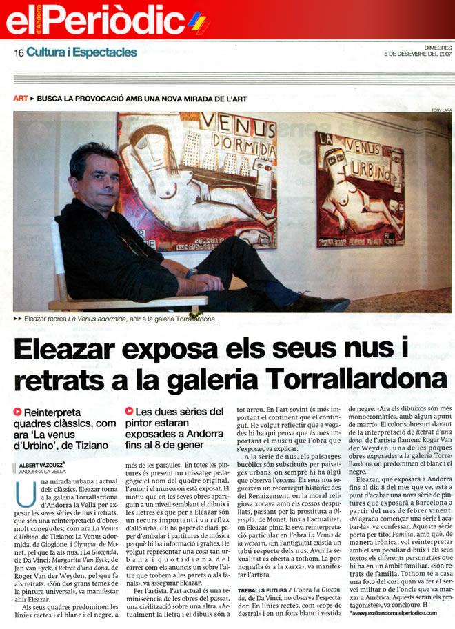 El Periódic d'Andorra. 5-12-2007
