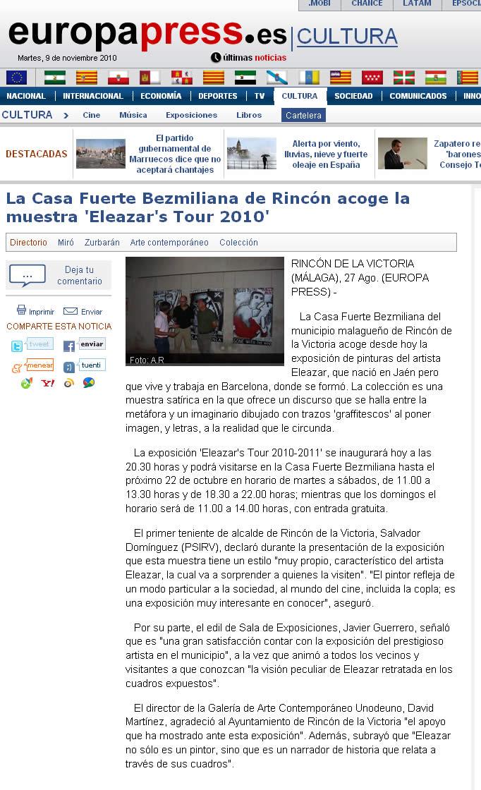 Europa Press. 27-8-2010