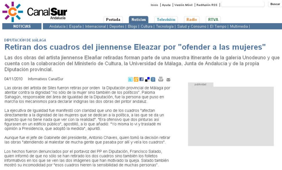 Información Canal Sur. 4-11-2010