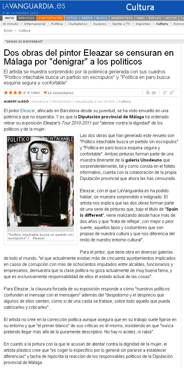 La Vanguardia. 5-11-2010
