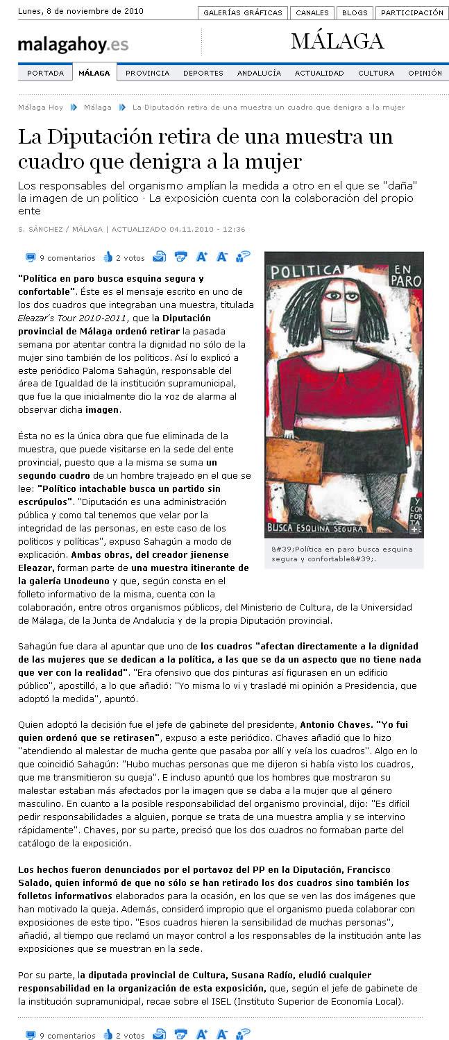 Málaga Hoy. 4-11-2010