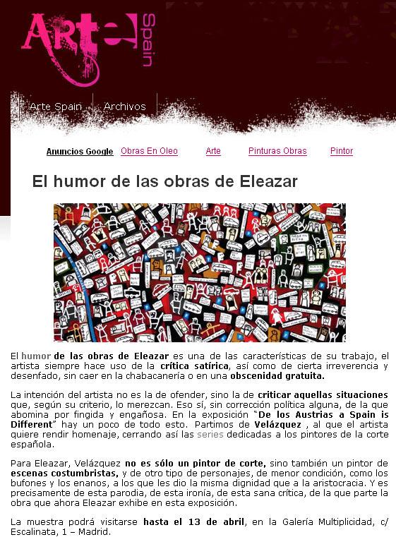 Arte Spain. Febrero 2011
