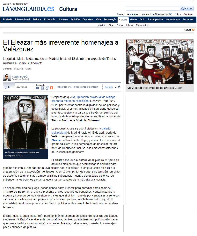 La Vanguardia. 14-01-2011