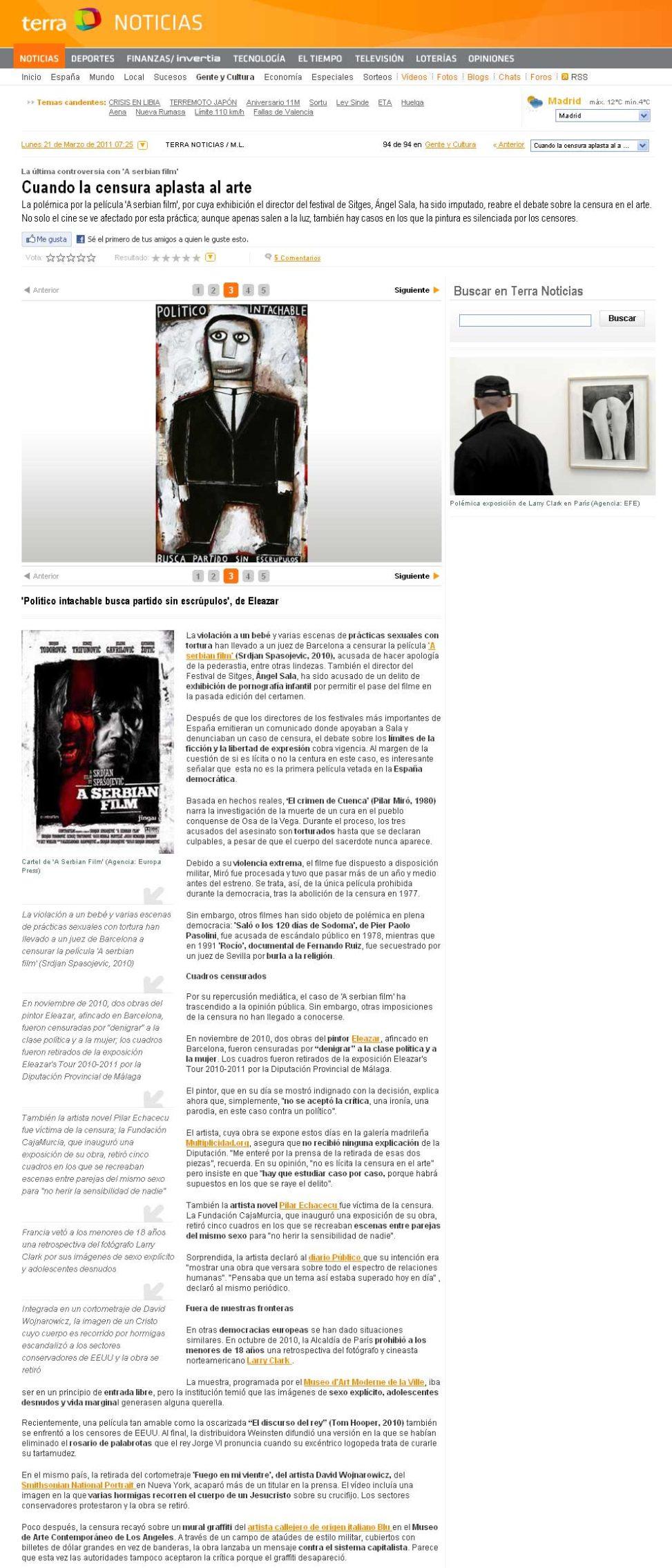 Noticias Terra. 21-3-2011