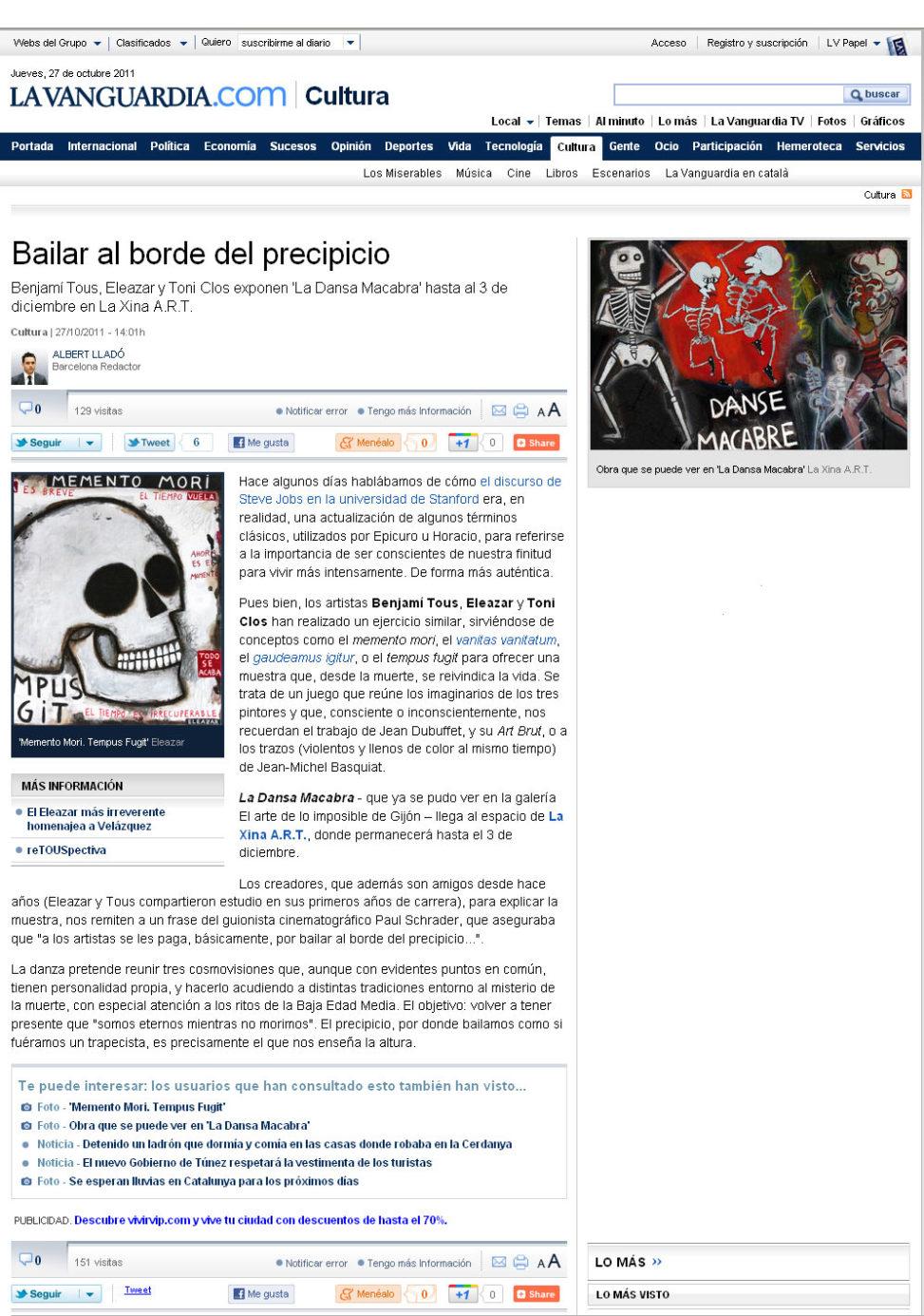 La Vanguardia. 27-11-2011