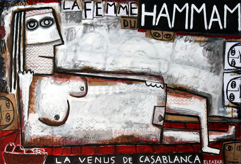 The woman of Hammam. The Venus of Casablanca
